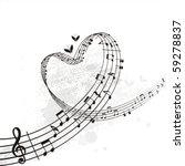 music from heart   Shutterstock .eps vector #59278837