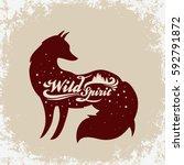 wild spirit. inspiration... | Shutterstock .eps vector #592791872