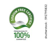 sodium free certified green... | Shutterstock .eps vector #592795832