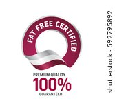 fat free certified red ribbon... | Shutterstock .eps vector #592795892