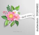 banner. vector illustration... | Shutterstock .eps vector #592804802