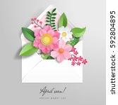 Vector Envelope. 3d Paper...