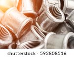 many of connecting fittings for ...   Shutterstock . vector #592808516