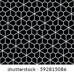 abstract geometric pentagon... | Shutterstock .eps vector #592815086