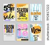 sale website banners design set.... | Shutterstock .eps vector #592817222