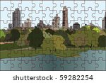 The Vector Image Of A Puzzle O...