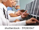 image of tired businesswoman...   Shutterstock . vector #59283367