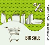 big sale banner design for shop ... | Shutterstock .eps vector #592846052