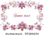 orchid flower drawing template... | Shutterstock . vector #59284654