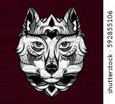 vector hand drawn  illustration ...   Shutterstock .eps vector #592855106