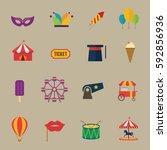 carnival icons design vector. | Shutterstock .eps vector #592856936