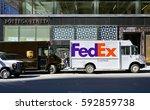 new york  ny  2 mar 2017  a... | Shutterstock . vector #592859738