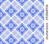 portuguese azulejo tiles.... | Shutterstock . vector #592868936