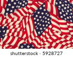 close up painted american flag... | Shutterstock . vector #5928727