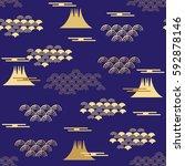 decorative seamless pattern... | Shutterstock .eps vector #592878146