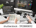 Small photo of photographer journalist camera photo editing edit designer photography
