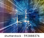 information trails series....   Shutterstock . vector #592888376