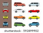 car vehicle transport type... | Shutterstock .eps vector #592899902
