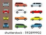 car vehicle transport type... | Shutterstock .eps vector #592899902