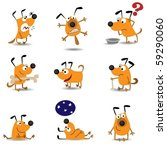 Stock vector funny dogs set 59290060
