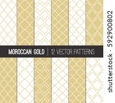 moroccan lattice patterns in... | Shutterstock .eps vector #592900802