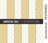 moroccan lattice patterns in... | Shutterstock .eps vector #592900802