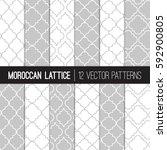 moroccan  lattice patterns in... | Shutterstock .eps vector #592900805