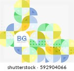 colorful circle elements.... | Shutterstock .eps vector #592904066