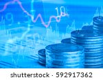 finance business and banking... | Shutterstock . vector #592917362