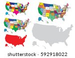 united states of america map... | Shutterstock .eps vector #592918022
