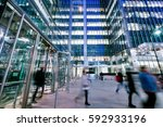 london train and office... | Shutterstock . vector #592933196