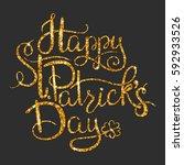 st. patricks day greetings.... | Shutterstock .eps vector #592933526