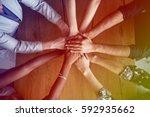 Human Hands Together Holding...