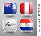 set of world flag application... | Shutterstock .eps vector #592937102