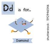 letter d cute children colorful ... | Shutterstock .eps vector #592946546