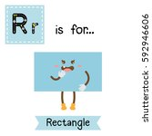 letter r cute children colorful ... | Shutterstock .eps vector #592946606