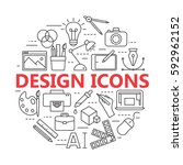 graphic design icons  vector... | Shutterstock .eps vector #592962152