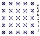 seamless vector pattern with... | Shutterstock .eps vector #592965356