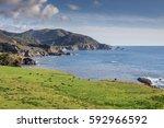 views of big sur coastline and...