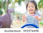 summer  childhood  leisure ... | Shutterstock . vector #592976498