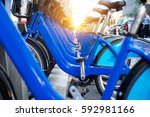 bicycle rental service spot on... | Shutterstock . vector #592981166