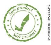 safe product grunge stamp  ... | Shutterstock .eps vector #592983242
