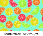 seamless pattern from slices of ... | Shutterstock .eps vector #592993895