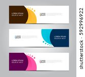 vector design banner background. | Shutterstock .eps vector #592996922