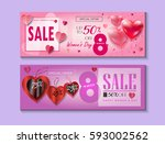 sale discount banners set for...   Shutterstock .eps vector #593002562