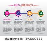 business infographics. timeline ...   Shutterstock .eps vector #593007836
