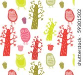 autumn seamless pattern forest... | Shutterstock .eps vector #59301502