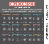big icon set clean vector | Shutterstock .eps vector #593020496