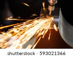 drill with diamond tipped... | Shutterstock . vector #593021366