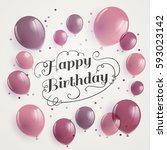 vector illustration of a happy... | Shutterstock .eps vector #593023142